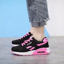 New Women Casual Shoes Breathable Mesh Platform Air Cushion Sneakers Women Fashion Mesh Sneakers Shoes Woman Tenis Feminino