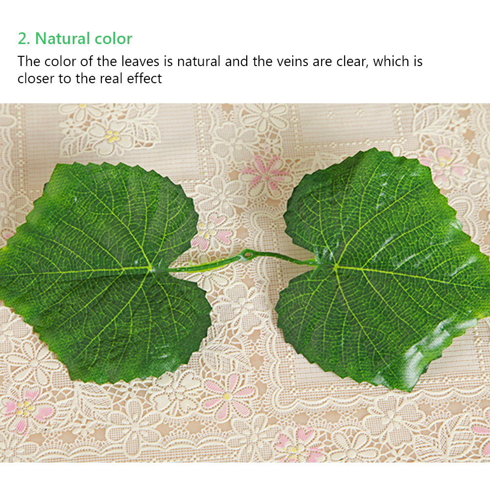 12pcs 3 Style Room Grape Vines Party Hanging Green artificial Decoration Ivy 7.5ft 36/72 leaves Artificial Home Decor Garden-4