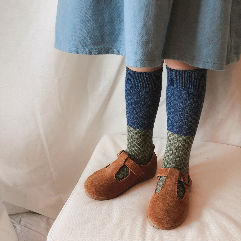 2021 Autumn Winter Baby Newborn Toddler Knee High Floor Sock Kids Geometric Socks  Boys Girls Cotton Tube Socks Bebes New Design 5