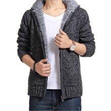 Pull-over épais avec fermeture éclair pour homme, vêtement d'extérieur, doublure en cachemire, automne et hiver