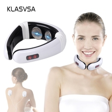 KLASVSA Electrode Pads Pulse Cervical Neck Massager Acupunct