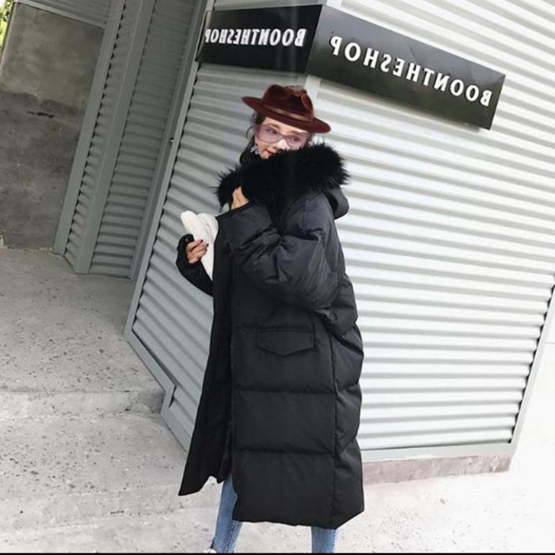 Women's Down Jacket Long Winter Female Jacket 2019 Down Jackets Fashion Parka Coat Puffer Jackets Oversize Outerwear Korean