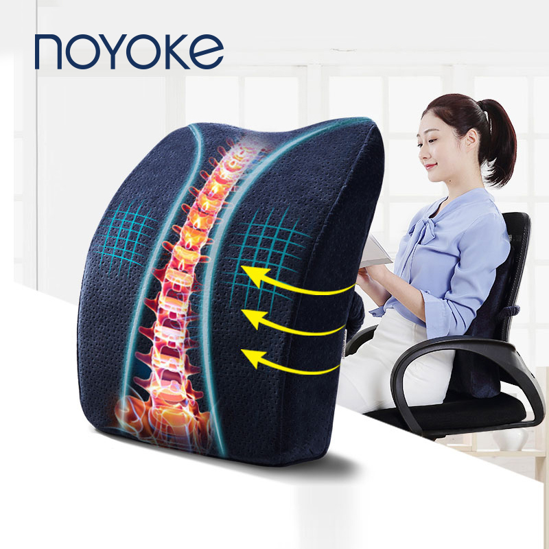 NOYOKE Chiar Cushion Memory Foam Seat Cushion Spine Protect Chair Pillow Office Back Cushions