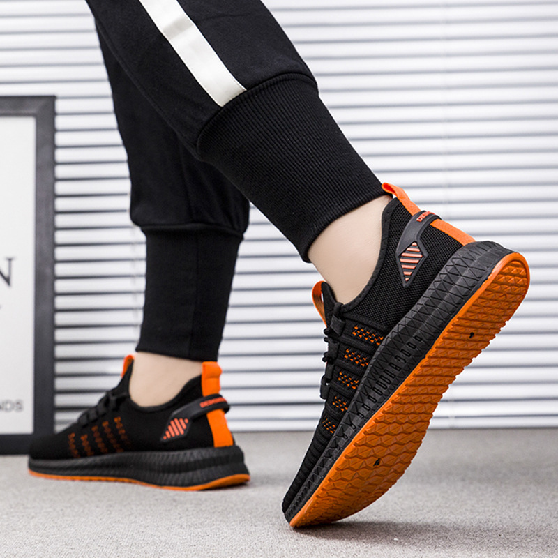 2019 New Mesh Men Sneakers Casual Shoes Lac-up Men Shoes Lightweight Comfortable Breathable Walking Sneakers Zapatillas Hombre 5