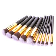 New Arrival 10 pcs/set Makeup Brush Kit Cosmetics Foundation Blending Blush Makeup Tool Face Beauty Make up Brush Set цена