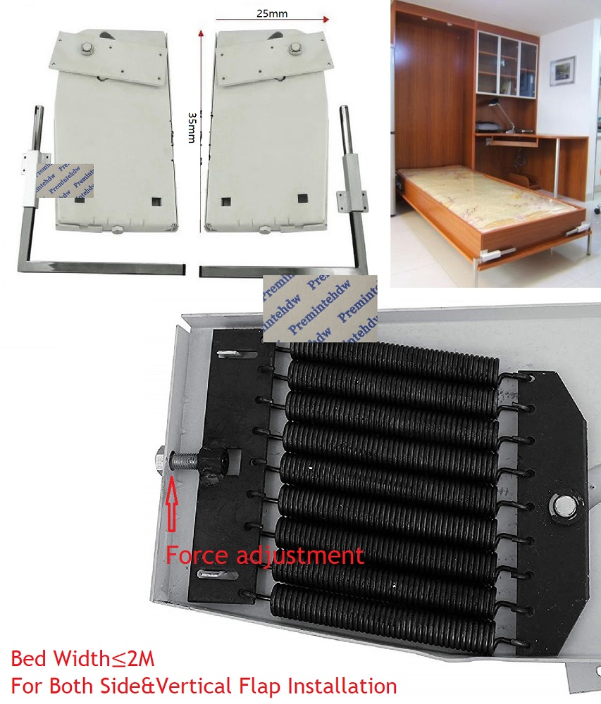 Heavy Duty DIY Murphy Wall Bed Hardware Kit Fold Down Bed Mechanism Bed Support Hardware DIY Kit For King Queen Bed