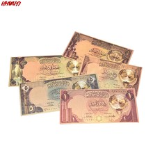 5 Pçs/set Kuwait Jogo Da Folha de Ouro Banknote Não-moeda de Papel Coleção Dinheiro de Papel Decoração NOVA