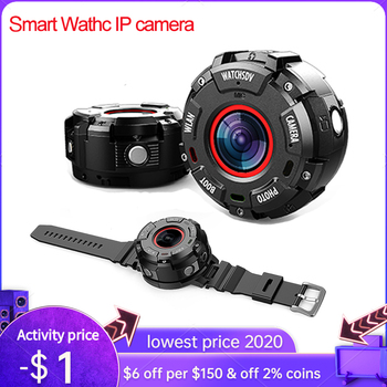 Smart Watch sports action camera IP68 Waterproof 1080P HD WiFi Sport Action Camera Wide-angle Lenses Night Version IP Camera akaso v50x wifi action camera native 4k30fps sport camera with eis touch screen adjustable view angle 131 feet waterproof camera