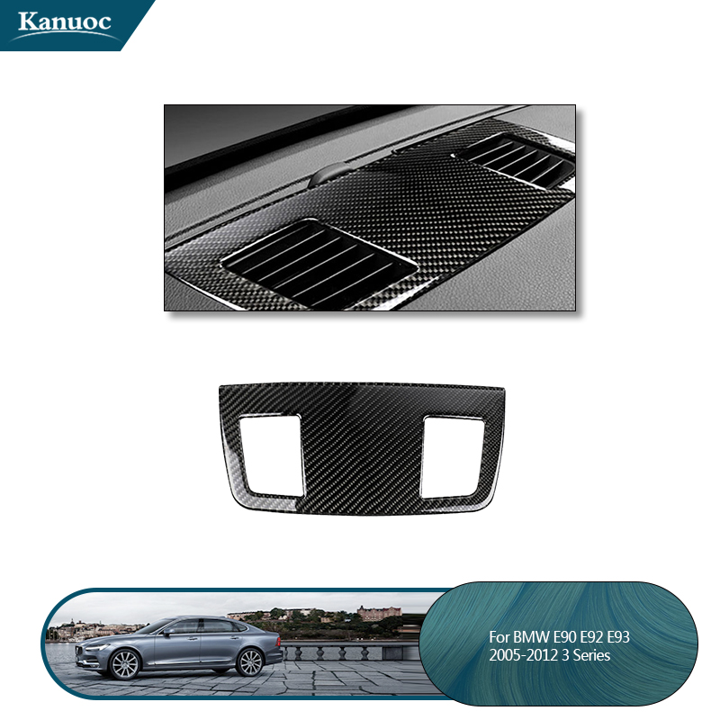 For BMW E90 3 series accessories Car Interior Carbon Fiber Dashboard Speaker panel decoration Car styling Stickers decoration image