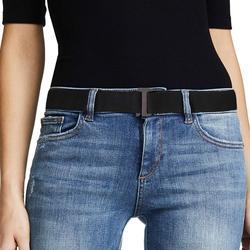 Cinturón elástico Invisible para mujer, correa de tela elástica con hebilla plana para pantalones vaqueros, vestidos, 8 estilos