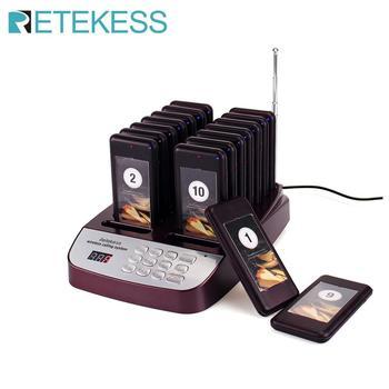 Retekess T113S restaurante buscapersonas Sistema de colas de paginación inalámbrico 16 llamada posavasos buscapersonas 999 canales equipos de restaurante
