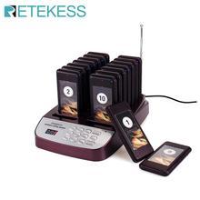 Retekess T113S restaurante buscapersonas Sistema de colas de paginación inalámbrico camarero sistema de llamada posavasos buscapersonas equipo de restaurante