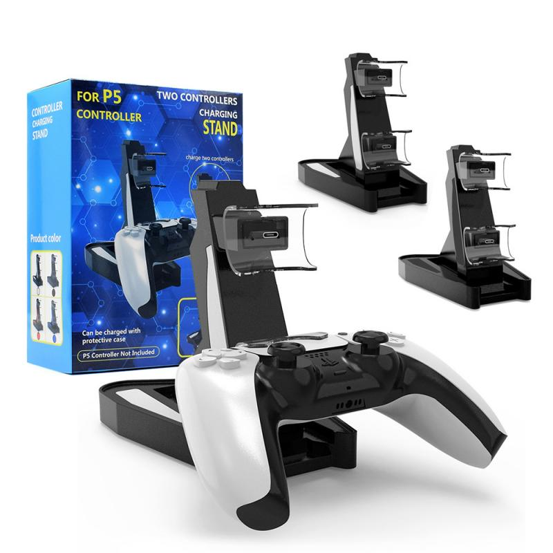 Charging Dock For PS5 Gamepad Stand Holder Charger Type-C Dual Handle Charger For Sony Playstation 5 Power Supply Accessories