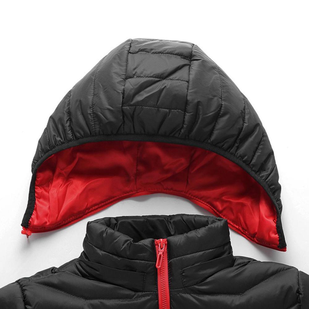 Женщины% 26Человек с подогревом куртка USB зарядка с подогревом куртка электрический с подогревом хлопок одежда защита от холода с капюшоном куртка на открытом воздухе зима тепло