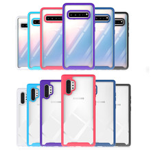 Keras Bening Kembali Matte Bumper Frame Case untuk Samsung Galaxy Note 10 Pro S10 Plus A20 A30 A50 A10 A10s a10e 3 In 1 Kasar Kasus(China)