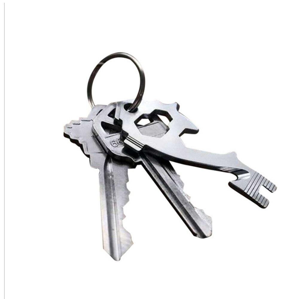 20-в-1 EDC мультитул карман брелок цепочка мульти инструменты карабины гравитация крючок брелки открытый кемпинг выживание путешествия комплекты