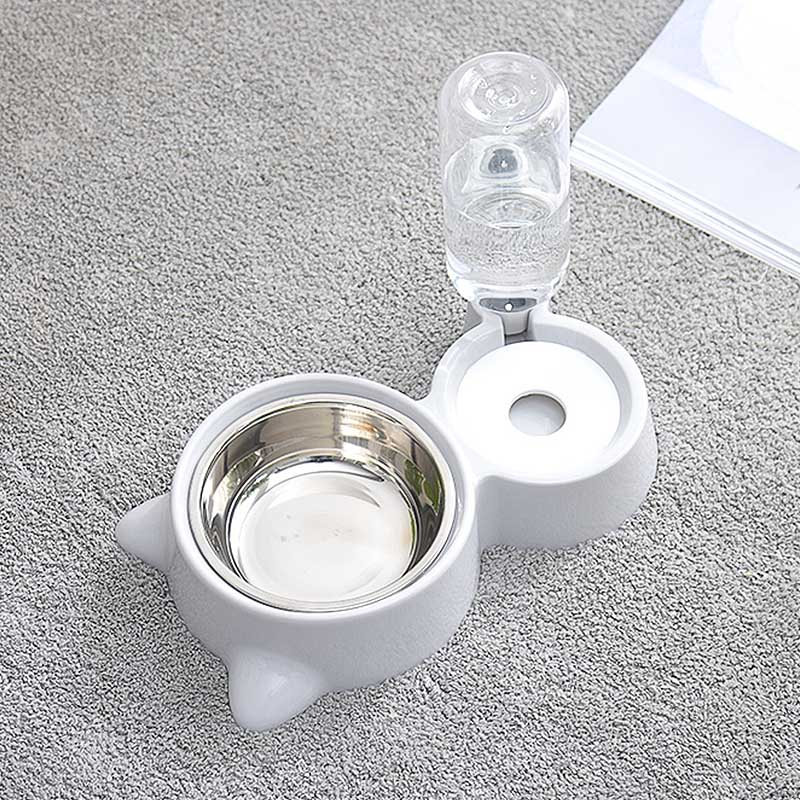 Cat Dog Drinking Bowl Dogs Feeder Dish Cat Feeding Watering Supplies Automatic Pet Feeder Water Dispenser