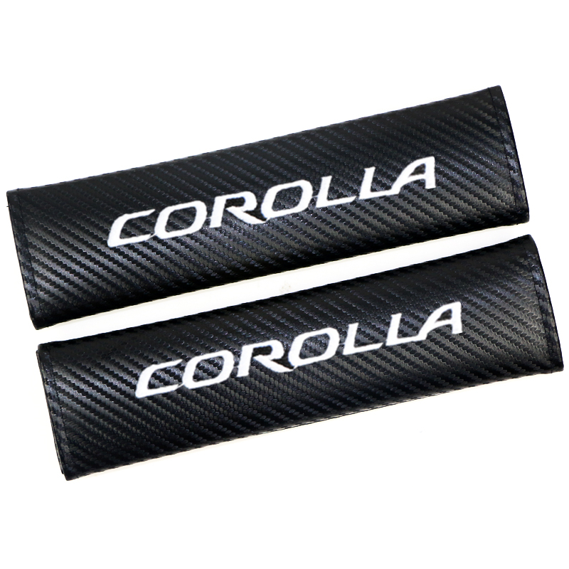 2pcs Excellent Hot Auto Seat Belt Sticker Car Styling Case For Toyota Corolla Accessories Car-Styling