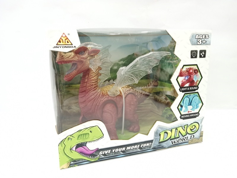 Cartoon Electric Pterosaur Model Walking Sound And Light Children'S Educational Dinosaur Electric Model Toy