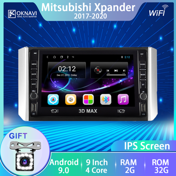 For Mitsubishi-m Xpander Car Radio Android 9.0 2017-2020 Multimedia DVD Player GPS Navigation 9 Inch No 2 Din Support DVR OBD image