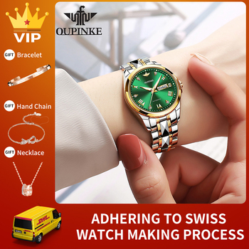 OUPINKE Luxury Brand Fashion Ladies Mechanical Automatic Self-Wind Sapphire Watch Women Elegant Designer Crystal Watches montre 1
