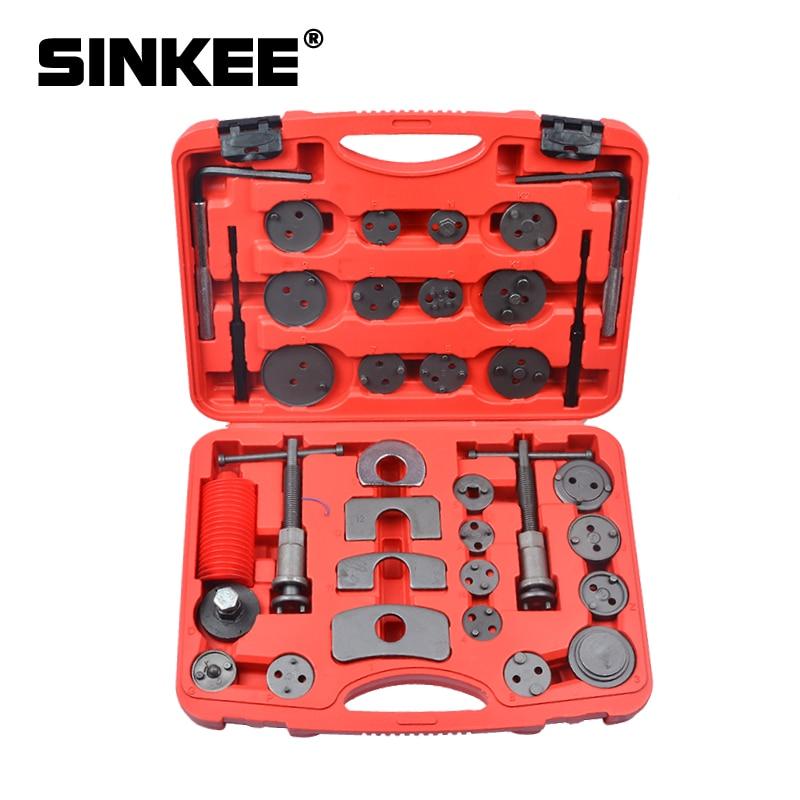 35pcs Universal Disc Brake Caliper Piston Wind Back Pad Compressor Tool Kit Set For Brake Pad SK1041
