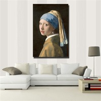 Netherlands GIRL WITH A PEARL EARRING Oil Painting Poster Wall Art Canvas Picture Living Room Home Decor Frameless