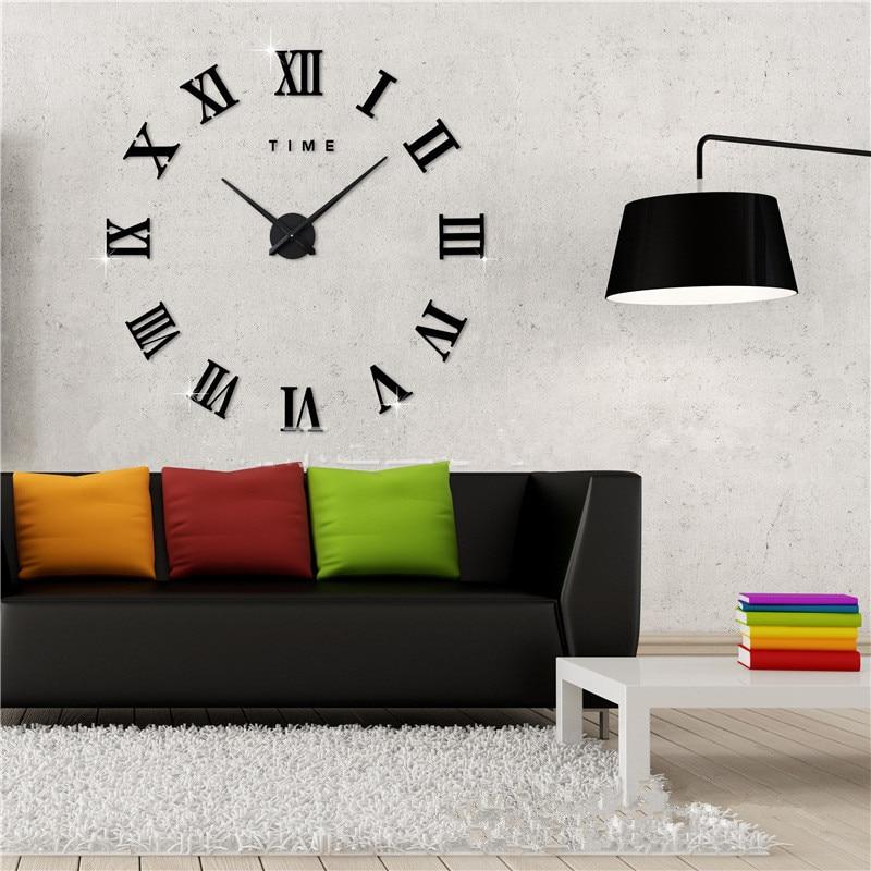 Special Offer 3d Big Acrylic Mirror Wall Clock Diy Quartz Watch Still Life Clocks Modern Home Decoration Living Room Stickers 2