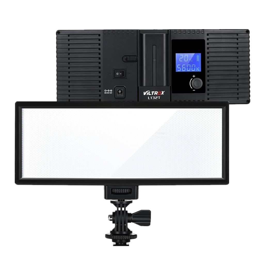 Светодиодный светильник Viltrox L132T с жк-дисплеем, тонкая двухцветная диммируемая лампа, панель + аккумулятор + зарядное устройство для камеры ...