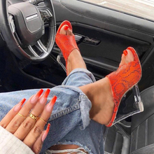 Wedges Shoes Woman Sandals Clear Heels Mules Crystal Sandals Women Summer Shoes Sippers Ladies High Heel Snake Wedge Sandal creativesugar crystal butterfly charm woman satin wedges stable med heel wedding prom shoes purple red silver grey royal blue