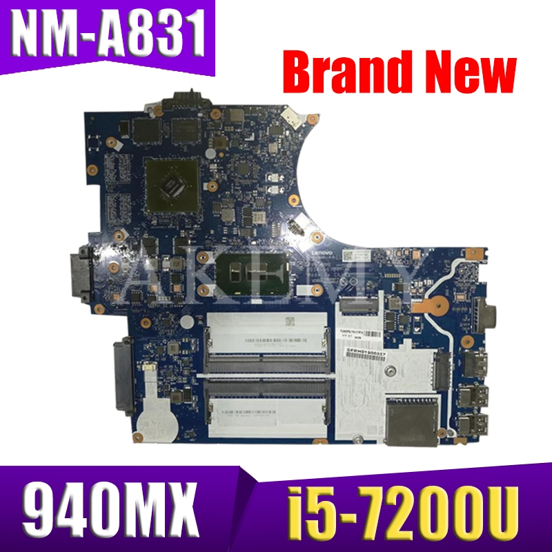 SAMXINNO For Lenovo ThinkPad E570 E570C NM-A831 Laotop Mainboard NM-A831 Motherboard with i5-7200U CPU <font><b>940MX</b></font> GPU image