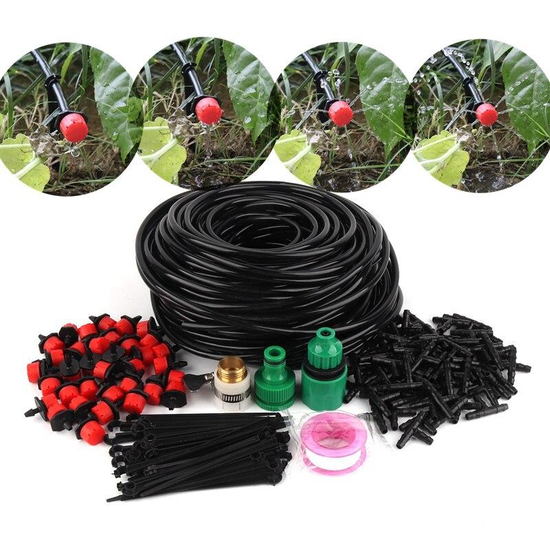 5m ~ 50m Tropf Bewässerung Kits 8 Löcher Einstellbare Tropf Emitter mit 4/7mm Schlauch Garten gewächshaus Bewässerung System