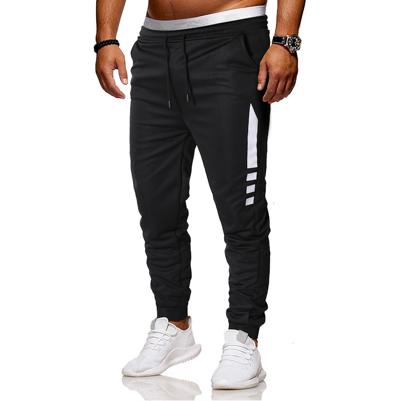 2019 Summer MEN'S Pants Men's Casual Pants Korean-style Trend Slim Fit Capri Pants Skinny Versatile Athletic Pants Men'S Wear