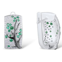 LETAPI Silver Earrings For Women Pure 925 Sterling Silver Green Cherry Sparkling Cubic Zirconia brincos Trendy Fashion Jewelry(China)