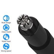 ZHIBAI-recortador de pelo eléctrico para nariz, Mini recortador de nariz de oído portátil, negro, resistente al agua IPX7, limpiador de eliminación seguro