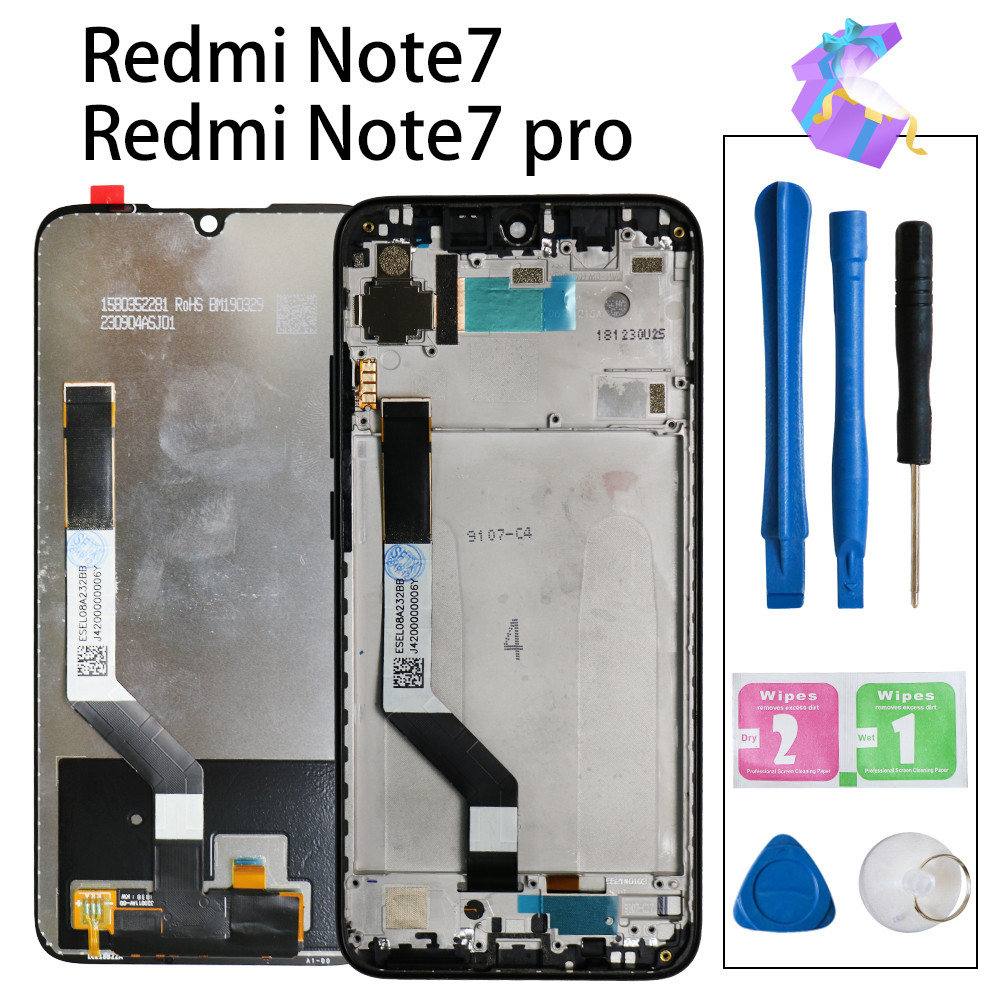 Original für <font><b>Xiaomi</b></font> Redmi Hinweis <font><b>7</b></font> <font><b>LCD</b></font> Display Bildschirm Touch Digitizer Montage Redmi Note7 Pro <font><b>LCD</b></font> Display 10 Touch Reparatur teile image