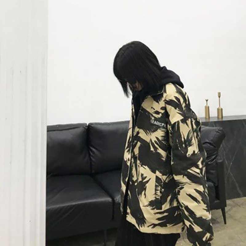 Nicemix Camo Jaket Musim Dingin 2019 Wanita Streetwear Hip Hop Jaket Harajuku Korea Mode Dua Sisi Jaket Mantel Pakaian