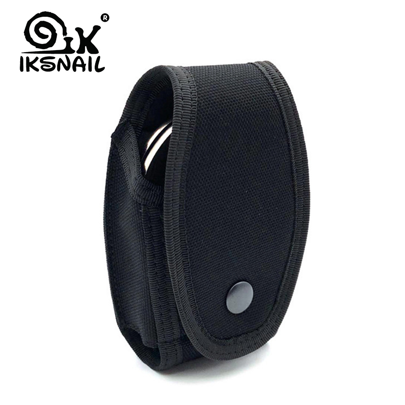 IKSNAIL Outdoor Tactical Small Belt Bag Police Handcuffs Case High Quality Nylon Quick Out Handcuffs Waist Pockets Tactical Gear