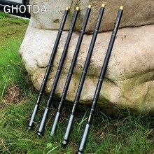 GHOTDA High Carbon Super Hard Stream Rod 3.6M-7.2M Telescopic Fishing Rod Hand Pole