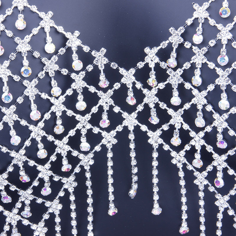 H86988994ba13411f88a5d1fc28f1ae95U Bling Bling Colorful Crystal Tassel Body Bra Chain Jewelry