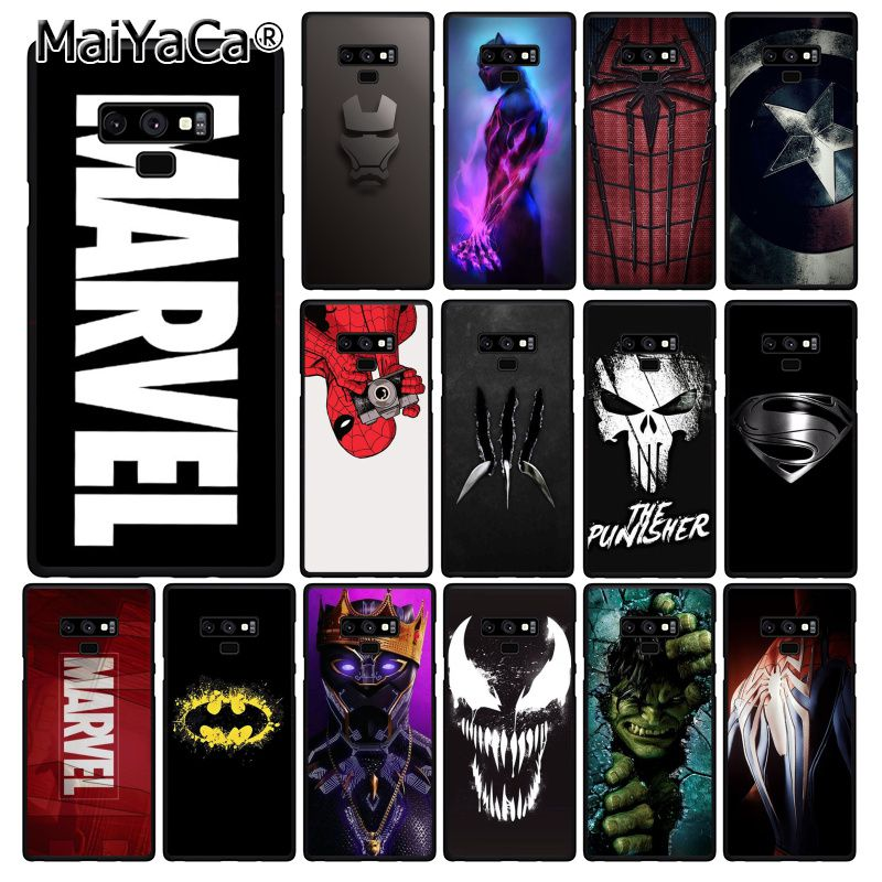 MaiYaCa <font><b>Marvel</b></font> Superman Poison Shield Spiderman <font><b>Logo</b></font> Phone <font><b>Case</b></font> For <font><b>Samsung</b></font> <font><b>Galaxy</b></font> A50 A70 A20 <font><b>A30</b></font> Note9 8 Note7 Note10 Pro image