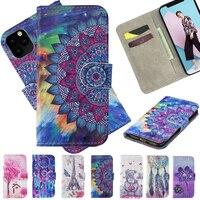 Funda para Samsung Galaxy S7, S8, S9, S10, S11, Note 10 Plus, E, A7, A8, A9, 2018, funda para teléfono con tapa para libro, ranura para tarjeta, billetera de cuero pintado 3D