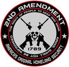 Car Sticker 2nd Amendment America's Original Homeland Security Round Auto Motorcycles Exterior Accssories PVC Decal,14cm*14cm homeland