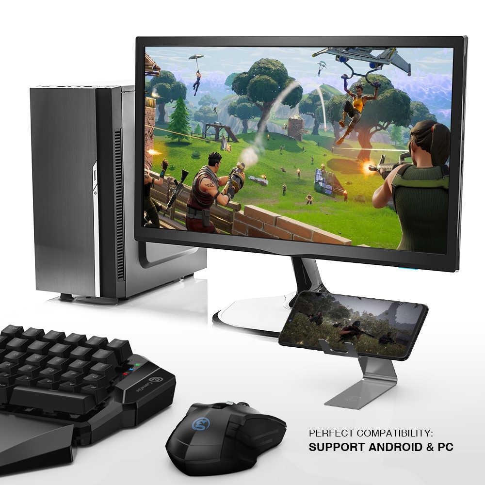 GameSir Z2 Tastiera Senza Fili del Gioco e Mouse Combo 2.4GHz Wireless e Bluetooth Gaming Tastiera per il Telefono Android e Finestre PC