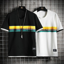 Summer Casual 100% Cotton T Shirt Men Tops Short Sleeve Streetwear Tee Round O-Neck T-Shirt Funny