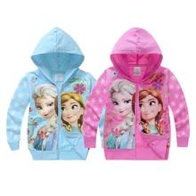 Пальто для девочек; худи с изображением Анны и Эльзы для девочек; детская одежда с длинными рукавами; свитер для маленьких девочек; подарок на день рождения; одежда для детей