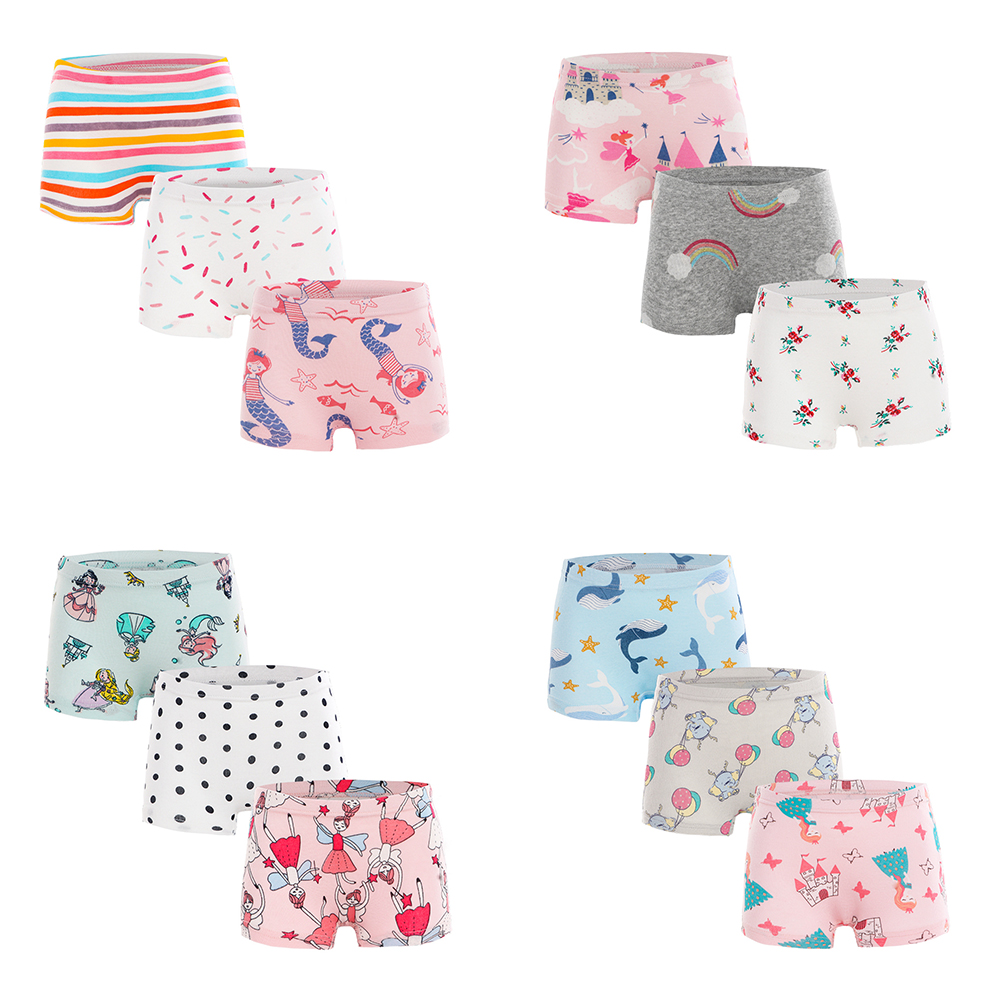 3PCS/Lot All Cartoon Underwear Cotton Shorts Girls Underwear Set Design Children Girls Underwear Cotton Soft Hot Sale 2021