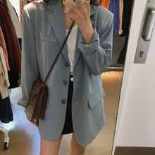 South Korea Fall 2019 Popular Recommended Suit Jacket Notched Single Breasted Clothes Women Jackets and Coats