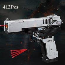 MK23 пистолет UZI, блоки для оружия, совместимы с военной техникой, городская полиция, спецназ, детские игрушки, Desert Eagle, строительные блоки