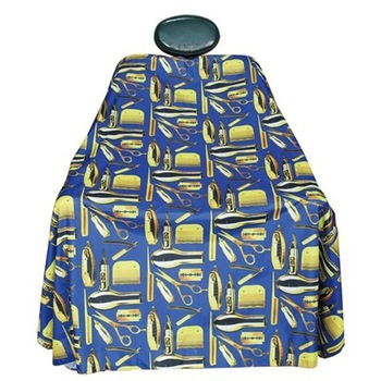 Waterproof Haircut Cape Cloth Cutting Hair Pattern Salon Barber Cape Hairdressing Hairdresser Apron Wrap Gown Tools Barber Apron popular salon barber hairdressing gown with snap button neck finished hair cape anti static fashion design hot sell stylist wrap
